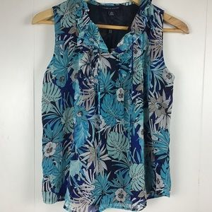 Tommy Hilfiger tropical sleeveless blouse NWT